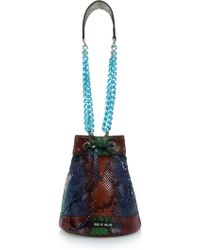 House of Holland | Lunch Box Snake-Effect Leather Shoulder Bag | Lyst