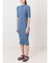 House of Holland - Ribbed Fitted Dress - Lyst