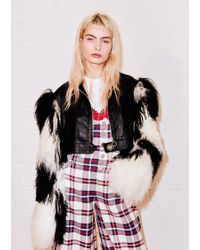 House of Holland - Mongolian Checkerboard Crop Jacket - Lyst