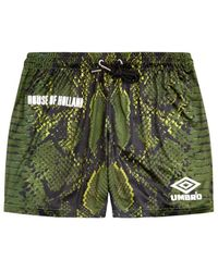 House of Holland - Umbro Snake Print Swim Shorts (green) - Lyst