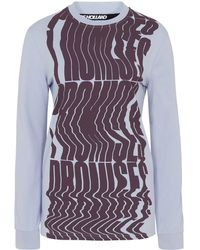 House of Holland - X Andrew Brischler 'promises' Lilac Long Sleeve Top - Lyst