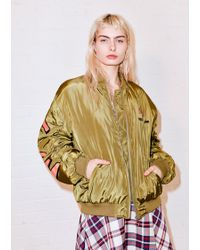 House of Holland | Knock On Wood Bomber Jacket | Lyst