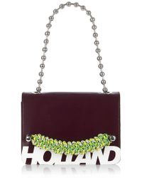 House of Holland - 'margot' Cross Body Bag (oxblood Brown) - Lyst