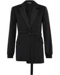 House of Holland - Rip Stop Black Tailored Jacket - Lyst