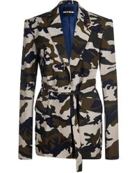 House of Holland - Camoflage Tailored Cotton Jacket - Lyst