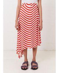 House of Holland - Asymmetric Wavy Skirt - Lyst