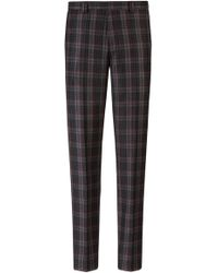 HUGO - Extra-slim-fit Virgin-wool Trousers With Glen Check - Lyst