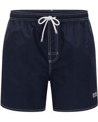 BOSS - Drawstring Swim Shorts In Quick-drying Fabric - Lyst