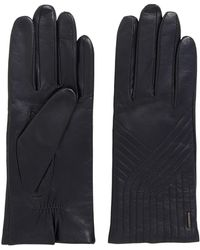BOSS - Lambskin Leather Gloves With Geometric Stitching - Lyst