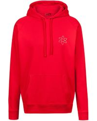 HUGO - Oversized-fit Hoodie With Atom Print And Reverse Logo - Lyst