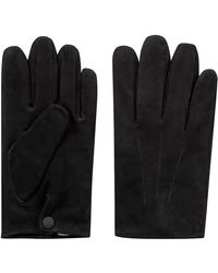 HUGO - Suede Gloves With Cashmere Lining - Lyst