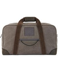 BOSS - Cotton-canvas Holdall With Leather Trims - Lyst