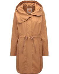 BOSS Orange - Regular-fit Cotton Blend Parka Jacket - Lyst