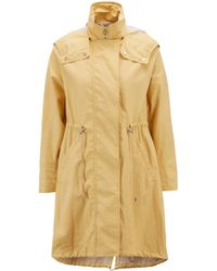 BOSS - Parka Jacket In Water-repellent Waxed Cotton - Lyst