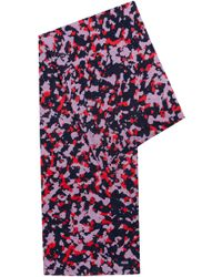 HUGO - Camouflage-print Scarf In Lightweight Cotton - Lyst