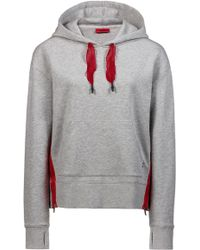 HUGO - Relaxed-fit Hooded Sweatshirt With Contrast Net Cords - Lyst