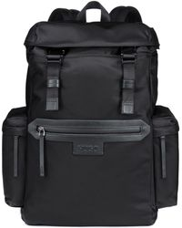 HUGO - Backpack In Nylon Gabardine With Leather Trims - Lyst