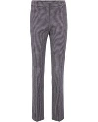 BOSS - Regular-fit Trousers In Stretch Cotton-blend Jacquard - Lyst