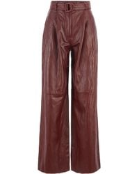 BOSS - Fashion Show Relaxed-fit Nappa Trousers With Side Stripe - Lyst