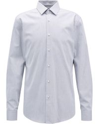 BOSS - Twill Dobby Slim-fit Shirt With Aloe Vera Finish - Lyst