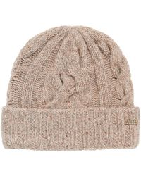 BOSS Orange - Multi-coloured Cable-knit Beanie Hat - Lyst