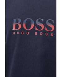 BOSS - Gift-boxed Pyjama Set In Cotton With Check Pattern - Lyst