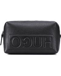 HUGO - Leather Washbag | Victorian L Washbag - Lyst