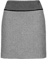 HUGO - Mini Skirt In Patched Patterns - Lyst