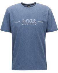 BOSS - Logo Pyjama T-shirt In Stretch Single Jersey - Lyst