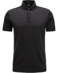 BOSS - Slim-fit Polo Shirt In Mercerised-cotton Jacquard - Lyst