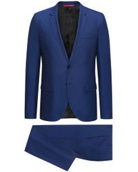 HUGO - Extra-slim-fit Suit In Virgin Wool With A Touch Of Silk - Lyst