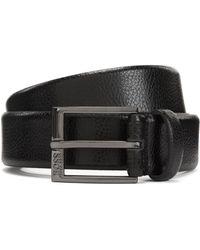 BOSS - Leather Belt With Emed Grain - Lyst