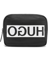 HUGO - Nylon Washbag With Contrast Reverse Logo - Lyst
