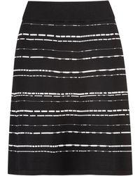 HUGO - A-line Skirt In A Super-stretch Structured Knit - Lyst