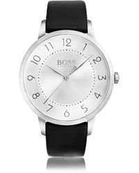 BOSS - Three-hand Watch In Polished Stainless Steel - Lyst