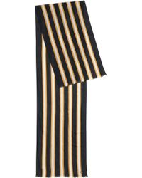 BOSS - Striped Scarf In Lightweight Fabric - Lyst
