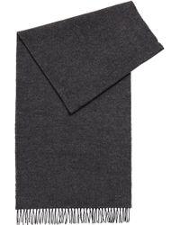 BOSS - Melange-effect Wool Scarf - Lyst