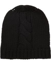 BOSS - Beanie Hat In A Wool Blend With Cable Structure - Lyst