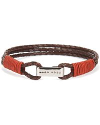 BOSS - Leather Bracelet   Barti - Lyst a6d32dffef