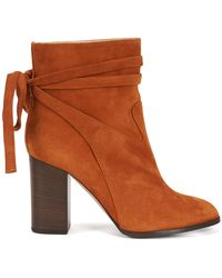 HUGO - Suede Ankle Boots With Wrap Detail - Lyst
