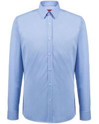 HUGO - Extra-slim-fit Shirt In Cotton Poplin - Lyst