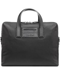 HUGO - Single Document Case With Leather Trims - Lyst
