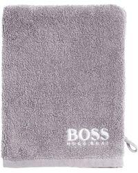 Finest Egyptian cotton washing mitt with contrast logo embroidery BOSS 5TsSshai