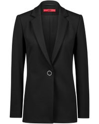 HUGO - Stretch-jersey Jacket With Statement Ring Closure - Lyst