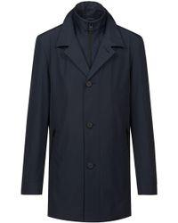 HUGO - Water-repellent Coat With Detachable Stand-collar Liner - Lyst
