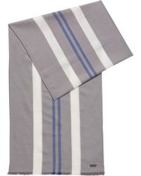 BOSS - Lightweight Scarf With Vertical Stripes - Lyst