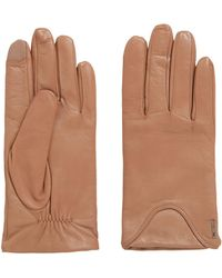 BOSS - Touch-screen Gloves In Lambskin With Wool-rich Lining - Lyst