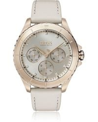 BOSS - Carnation Gold-plated Watch With Crystal Hour Markers - Lyst