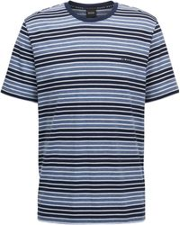 BOSS - Regular-fit Loungewear T-shirt In Stretch-cotton - Lyst