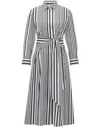 BOSS - Hebrana Belted Cotton Poplin Shirtdress - Lyst